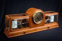 Fine & Rare Art Deco Style Barograph / Clock / Thermograph by Negretti & Zambra