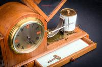 Fine & Rare Art Deco Style Barograph / Clock / Thermograph by Negretti & Zambra (6 of 7)