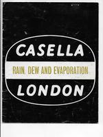 Casella London Rain, Dew & Evaporation 1974