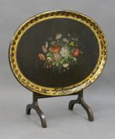 Regency Papier Mache Tray on Stand (2 of 6)