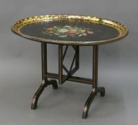 Regency Papier Mache Tray on Stand (4 of 6)