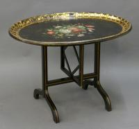 Regency Papier Mache Tray on Stand (6 of 6)
