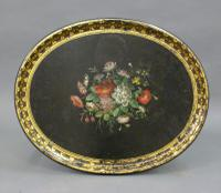 Regency Papier Mache Tray on Stand (5 of 6)