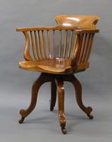 Quality Walnut Revolving Desk Chair c.1880 (3 of 6)