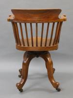 Quality Walnut Revolving Desk Chair c.1880 (6 of 6)