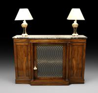 William IV Goncalo Alves Break Front Cabinet (2 of 6)