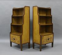 Rare Pair of 19th Century Scandinavian Painted Bookcases (4 of 6)