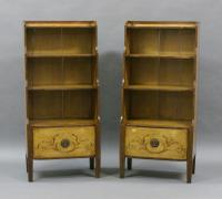 Rare Pair of 19th Century Scandinavian Painted Bookcases (2 of 6)