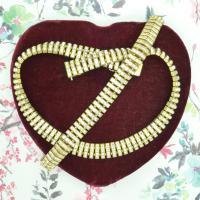 Art Deco Rhinestone Necklace Bracelet Demi Parure 1930s ~ Signed Doso (Esha RAndel)