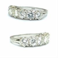Vintage 18ct White Gold Seven Stone Diamond Eternity / Wedding Band 1.20 Carat ~ with Independent Valuation (12 of 12)