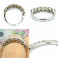 Vintage 18ct White Gold Seven Stone Diamond Eternity / Wedding Band 1.20 Carat ~ with Independent Valuation (10 of 12)