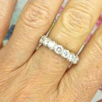 Vintage 18ct White Gold Seven Stone Diamond Eternity / Wedding Band 1.20 Carat ~ with Independent Valuation (2 of 12)