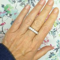 Vintage 18ct White Gold Seven Stone Diamond Eternity / Wedding Band 1.20 Carat ~ with Independent Valuation (3 of 12)
