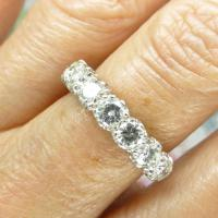 Vintage 18ct White Gold Seven Stone Diamond Eternity / Wedding Band 1.20 Carat ~ with Independent Valuation (6 of 12)