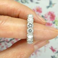 Vintage 18ct White Gold Seven Stone Diamond Eternity / Wedding Band 1.20 Carat ~ with Independent Valuation (7 of 12)
