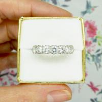 Vintage 18ct White Gold Seven Stone Diamond Eternity / Wedding Band 1.20 Carat ~ with Independent Valuation (11 of 12)