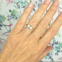 Vintage Art Deco 18ct Two Stone Diamond Moi Et Toi Engagement Ring c.1930 (2 of 9)
