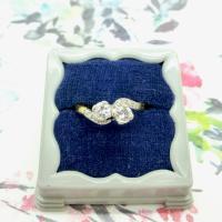 Vintage Art Deco 18ct Two Stone Diamond Moi Et Toi Engagement Ring c.1930 (6 of 9)