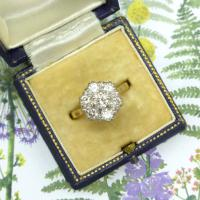 Vintage 18ct Gold Diamond Cluster Engagement Ring 0.95 Carats (6 of 10)