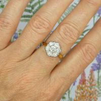 Vintage 18ct Gold Diamond Cluster Engagement Ring 0.95 Carats (7 of 10)