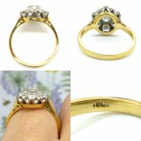 Vintage 18ct Gold Diamond Cluster Engagement Ring 0.95 Carats (9 of 10)