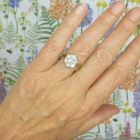 Vintage 18ct Gold Diamond Cluster Engagement Ring 0.95 Carats (3 of 10)