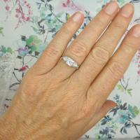 Vintage Art Deco 18ct Platinum Diamond Solitaire Engagement Ring 1930s (2 of 10)