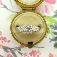 Vintage Art Deco 18ct Platinum Diamond Solitaire Engagement Ring 1930s (5 of 10)