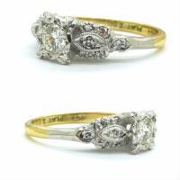 Vintage Art Deco 18ct Platinum Diamond Solitaire Engagement Ring 1930s (3 of 10)