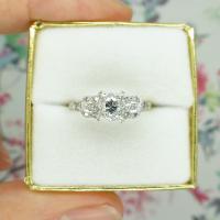Vintage Art Deco 18ct Platinum Diamond Solitaire Engagement Ring 1930s (10 of 10)