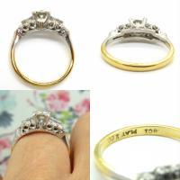 Vintage Art Deco 18ct Platinum Diamond Solitaire Engagement Ring 1930s (9 of 10)
