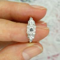 Vintage Art Deco 18ct Platinum Diamond Solitaire Engagement Ring 1930s (7 of 10)