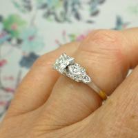 Vintage Art Deco 18ct Platinum Diamond Solitaire Engagement Ring 1930s (4 of 10)