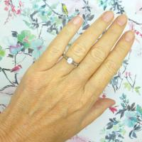 Art Deco 18ct White Gold & Platinum Old European Cut Diamond Solitaire Engagement Ring ~ with Independent Report (3 of 11)