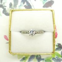 Art Deco 18ct White Gold & Platinum Old European Cut Diamond Solitaire Engagement Ring ~ with Independent Report (10 of 11)