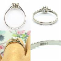 Art Deco 18ct White Gold & Platinum Old European Cut Diamond Solitaire Engagement Ring ~ with Independent Report (9 of 11)