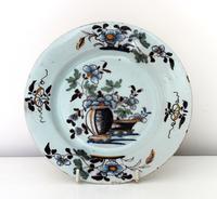 Bristol Delft Polychrome Plate C.1750
