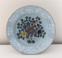 Bristol Delftware Flower Plate