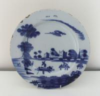 Bristol Delftware Blue & White Plate