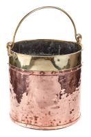 Antique Copper & Brass Coal Bucket c.1800