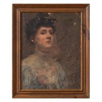 Harold Lapham Worn American School Portrait of a Lady C.1915