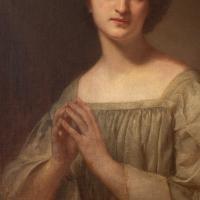 19th Century French School Portrait of a Female Saint at Prayer (4 of 9)