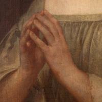 19th Century French School Portrait of a Female Saint at Prayer (5 of 9)