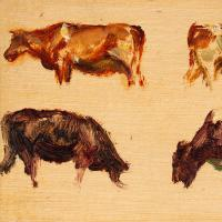 Hemich Vitz, Five Cow Studies, 20th Century Oil Painting (4 of 8)