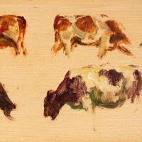 Hemich Vitz, Five Cow Studies, 20th Century Oil Painting (5 of 8)