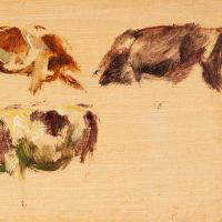 Hemich Vitz, Five Cow Studies, 20th Century Oil Painting (6 of 8)
