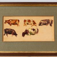 Hemich Vitz, Five Cow Studies, 20th Century Oil Painting (7 of 8)