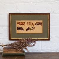 Hemich Vitz, Five Cow Studies, 20th Century Oil Painting (2 of 8)