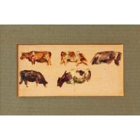 Hemich Vitz, Five Cow Studies, 20th Century Oil Painting (3 of 8)