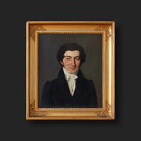 19th Century Danish School Portrait of a Dashing Gentleman, Oil on Canvas (3 of 11)